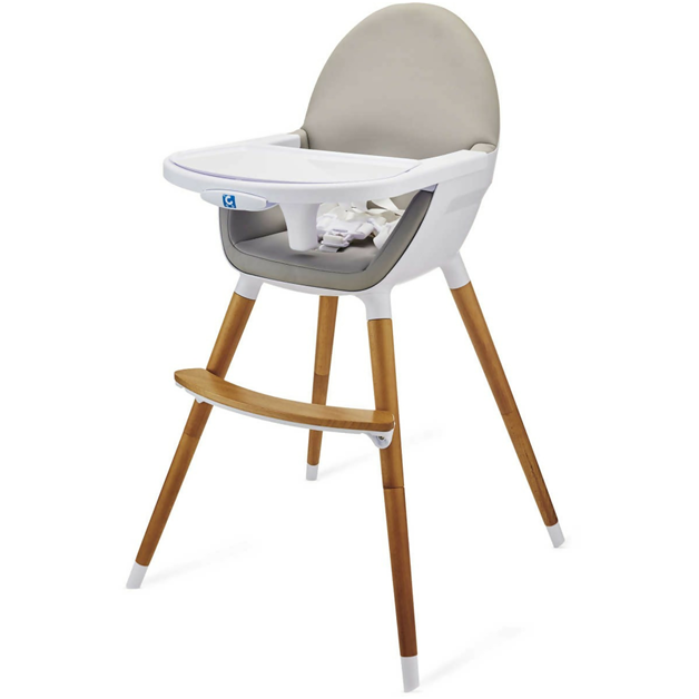 white high chair.